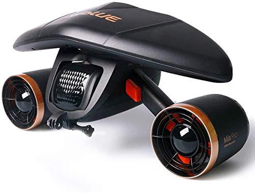sublue WhiteShark Mix - Patinete subacuático con Motores duales, Compatible con cámara de acción, Deportes acuáticos, Buceo para niños y Adultos (Mix Pro Negro)