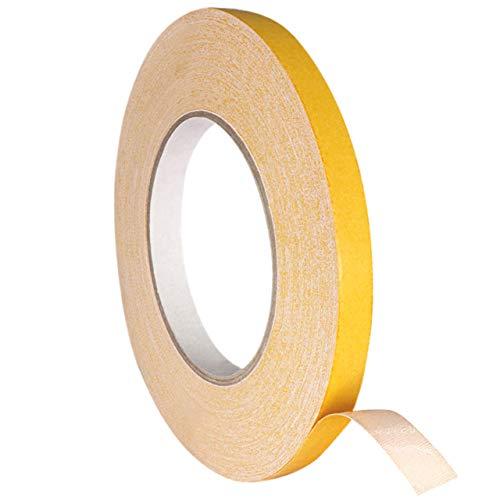 Doppelseitiges Klebeband aus Gewebe | Gewebeklebeband | Weiß | Hohe Soforthaftung | Für Fixierungen & Verklebungen | 11 mm x 25 m