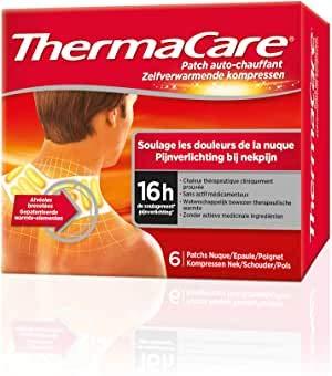 ThermaCare selbstheizendes Patch, für Nacken, Schulter und Handgelenk, lindert Nackenschmerzen, 8 Stunden konstante Wärme, 6 Stück