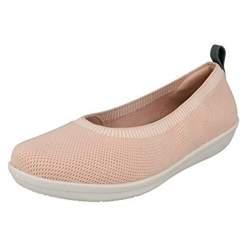Clarks Ayla Paige Womens Knit Shoes Hell-Rosa 37 EU