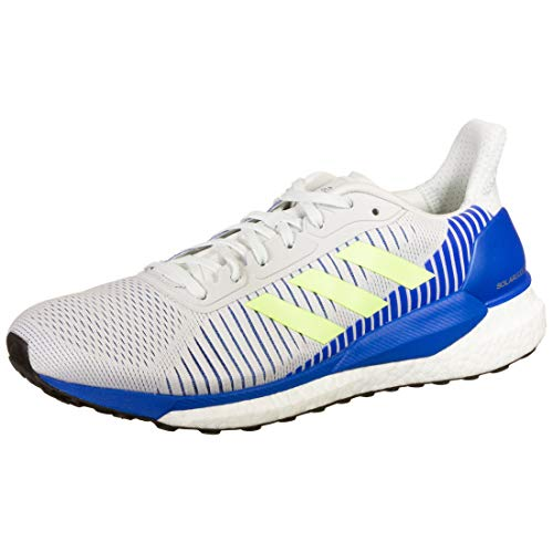 adidas Solar Glide ST 19 M, Zapatillas de Running Hombre, Crystal White/Signal Green/Glory Blue, 49 1/3 EU