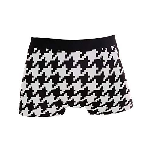 Classic Plover Case Black White Mens Boxer Slip per Ragazzo Youth Intimo Uomo Poliestere Spandex Comfort XL