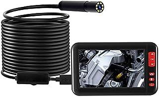 TOPQSC Endoscoop met 10 meter lange halfstijve kabel (4,3 inch/1080p HD IP67)