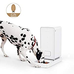 PETKIT Alimentador Inteligente para Perros y Gatos-Doble Fresco/Nunca Tarjeta/Gran Capacidad/Fácil de Limpiar-Blanco (Large) 2