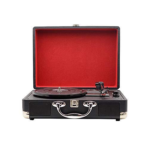 Retro Bluetooth-Lautsprecher Tragbare Vintage Vinyl Multifunktions Plattenspieler Plattenspieler Bluetooth Lautsprecher Koffer Mit Bluetooth Dekoration Klassische Bluetooth Lautsprecher Radio-Lautspre