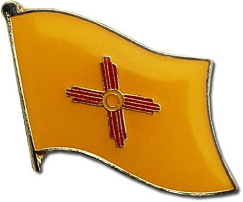 AES Wholesale Pack of 3 State of New Mexico Flag Bike Hat Cap Lapel Pin