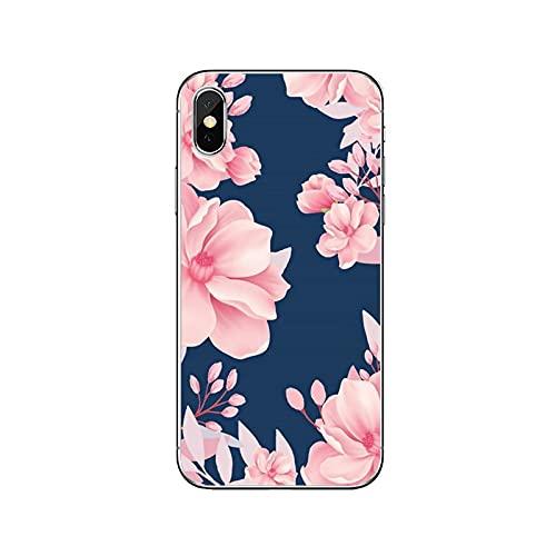 Funda de silicona para Huawei P20 P30 P40 Pro P10 P9 Lite Y5 Y6 Y7 Y9 P Smart Plus 2018 2019-Rosa-Flor-F-10-Para Huawei Y5 2018
