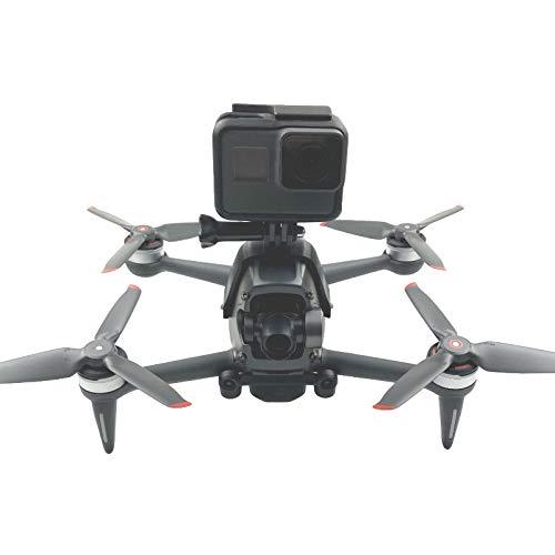 Linguhang Feste Adapter Halterung Obere Verlängerungs Halter für DJI FPV Combo Drone Zubehör für GoPro Hero 10 9 8 7 6 Black DJI Osmo Action Insta360 One X Panorama Action Kamera