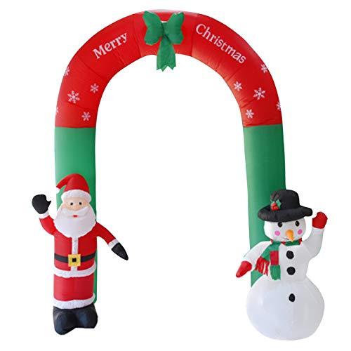 Wsaman Aufblasbare Bögen Weihnachtsmann Schneemann Mit LED-Licht, Weihnachtsgarten Dekorationen Ferien Requisiten Weihnachten Aufblasbare Modell Puppe Windundurchlässige Für Innen/Außen/Rasen