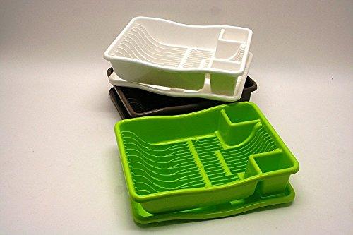 Schulz-Haushaltwaren TOP Geschirrabtropfkorb mit Tablett 38,1x29,2x10,1cm Abwaschkorb Abtropfkorb
