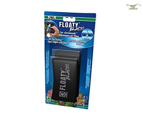 JBL Floaty Blade 6135200, Schwimmender Scheiben-Reinigungsmagnet mit Klinge für dicke Aquarienscheiben, L