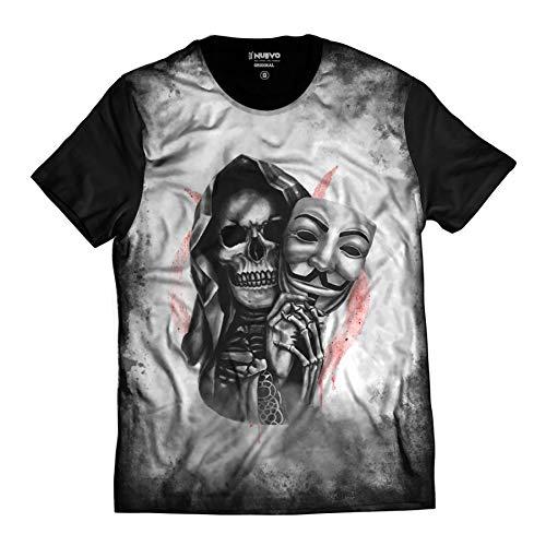 Camiseta V de Vingança Caveira Skull Vendetta