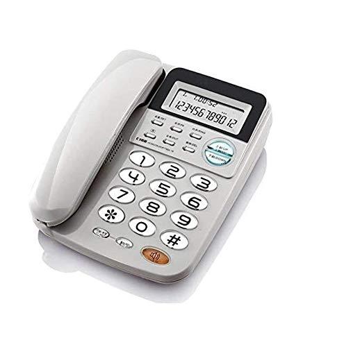 JDJFDKSFH Número de teléfono para teléfonos Home House Teléfono con Cable, Pantalla de identificación de Llamadas/Teléfono Fijo Super Ringtone, Teléfonos Big Button para per