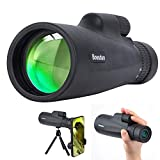 Telescopio Monocular con Zoom 10-30x50 Compacto, con Soporte para Teléfono Inteligente, Lente Monocular HD BAK4 Prism FMC Enfoque de una Sola Mano, para Observación de Aves, Viaje de Campamento, etc