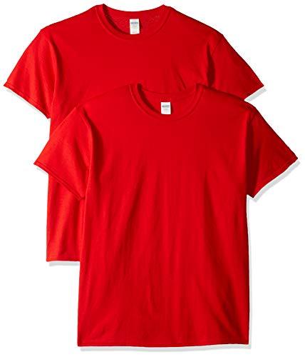 Gildan Men's Heavy Cotton T-Shirt, Style G5000, 2-Pack, Red, 2X-Large