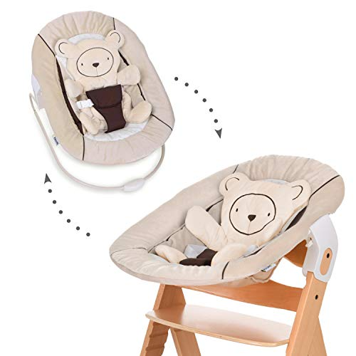 Hauck Alpha Bouncer 2 in 1 Newborn Wipstoeltje, Beige