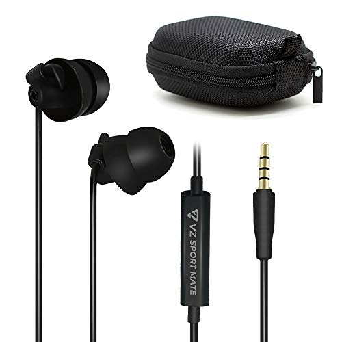 Sleep Earbuds Sleeping Noise Isolation Headphones Sleep Earphones with Mic,Unique Fully Soft Silicone Earplugs for Sleeping Insomnia Side Sleeper Snoring Air Travel Meditation Relaxation VZ SPORT MATE