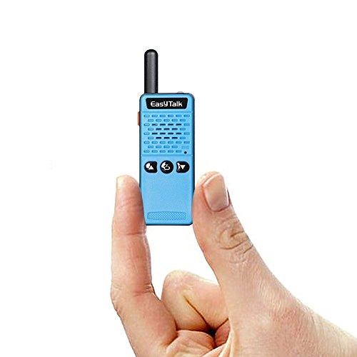 EasyTalk Mini Walkie Talkie Für Kinder und Outdoor-Reisen M2 PMR 446 70cm UHF 400-520MHz 16 Kanäle VOX Handfunkgerät mit Headset (Blue-Black)