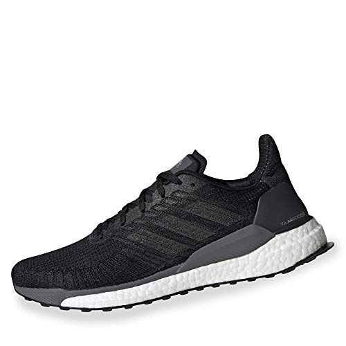 adidas Solarboost 19, Running Shoe Hombre, Core Black/Carbon/Grey, 44 2/3 EU