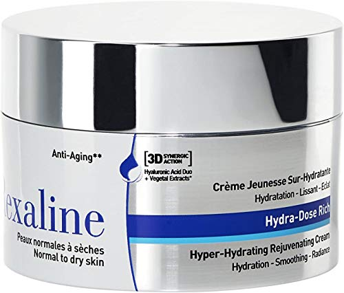 Rexaline Hydra-Dose Rich - jugendspendende feuchtigkeitsspendende Pflege - Anti-Falten und Anti-Age Creme mit Hyaluronsäure - Beruhigend und nährend - Gesichtspflege für Mann und Frau - 50 ml