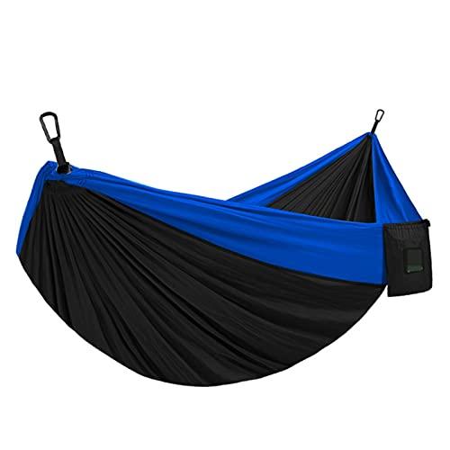 FGJH 1-2 Personas Portátil Hamaca Camping Survival Jardín Ocio Viajes Portátil Hamaca 728 (Color : Blue, Size : 275cmX140cm)