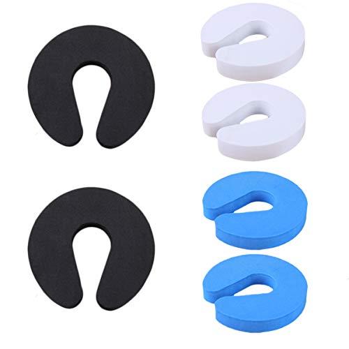 6 x Schaumstoff Türstopper, Doorstop Finger Klemmschutz Baby Kindersicherung für Türen (3 Farben)