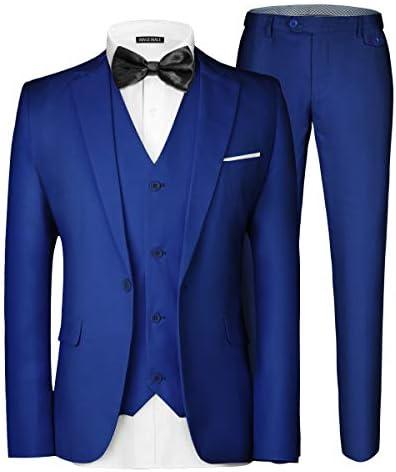 Royal blue mens suit _image2