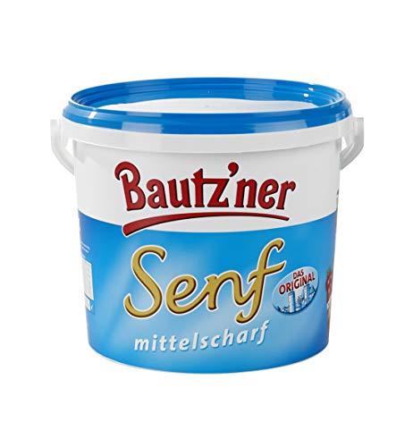 BAUTZ'NER Senf mittelscharf – 2er Set (2x5000 ml) Eimer Mittelscharfer Senf – Original Bautz'ner Rezeptur seit 1955 – Ohne Zusatz von Konservierungsstoffen und Geschmacksverstärkern – Senf