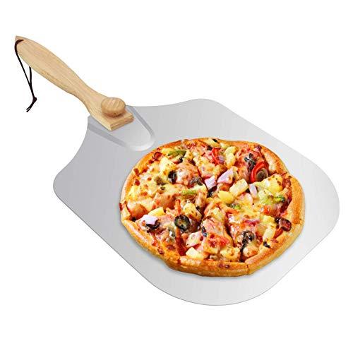 Luoji Pala De Pizza De Paleta De Pizza De Cáscara De Pizza De Metal De Aluminio para Hornear Pan De Pizza Casero