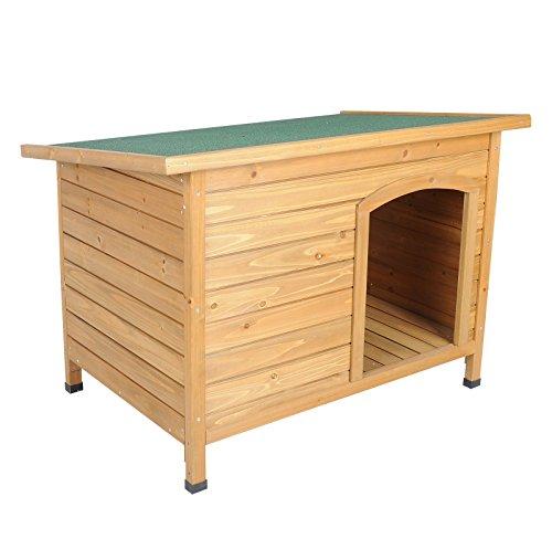 EUGAD Caseta de Madera Maciza para Perro Jaula Casa para Perro Gatos Conejo Cobaya Casa para Impermeable 103x71x66 cm 0036HT