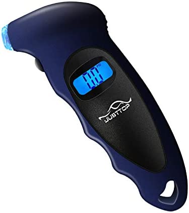 JUSTTOP Digital Tire Pressure Gauge 150PSI 4 Setting for Cars Trucks and Bicycles Backlit LCD product image
