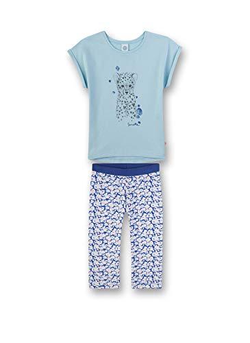 Sanetta Mädchen Pyjama kurz Zweiteiliger Schlafanzug, Blau (blau 5632), (Herstellergröße:104)