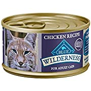 Blue Buffalo Wilderness High Protein Grain Free, Natural Adult Pate Wet Cat Food, Chicken 3-oz cans (Pack of 24)