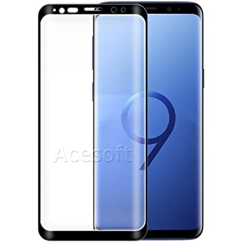 SM-G955U Cellphone 100/% New Premium 9H HD Clear Curved Tempered Glass Screen Protector Guard Shield Saver Armor Cover Film for C Spire Samsung Galaxy S8 USA