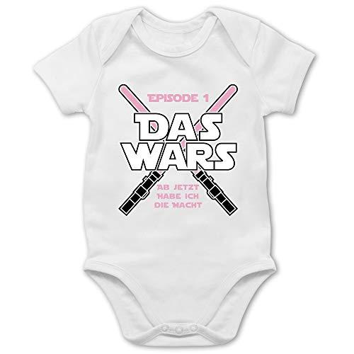 Shirtracer Zur Geburt - Das Wars Jetzt Habe ich die Macht Mädchen - 3/6 Monate - Weiß - Baby Erstausstattung mädchen - BZ10 - Baby Body Kurzarm für Jungen und Mädchen