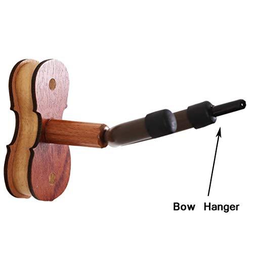 Praktische an der Wand befestigte Violine Geige Viola Aufhänger Haken Holz Basis Violine Aufhänger Kaemma
