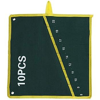 Estuche enrollable, Bolsa de Herramientas Estuche porta herramientas Enrollable bolso de herramienta la llave bolsa de los bolsillos para los artesanos de Handymen de la carpinterí(10PCS): Amazon.es: Bricolaje y herramientas