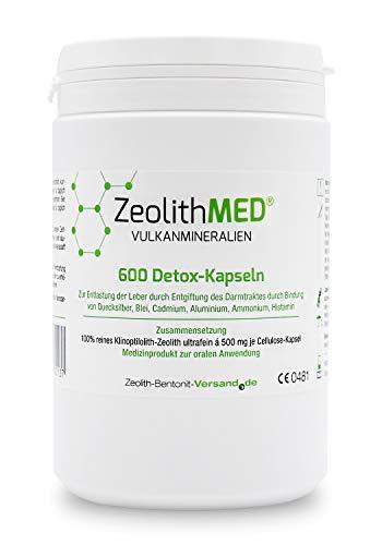 Zeolith MED 600 Detox-Kapseln, CE zertifiziertes Medizinprodukt
