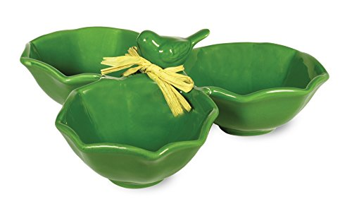Boston International Bird Ceramic Condiment Bowl, Emerald