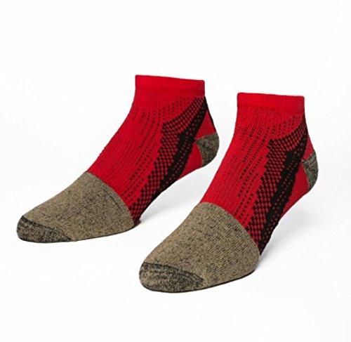 Podestal Footwear 2.5 Performance & Training Socken, ideal für Gymnastik, Kreuzheben, Kniebeugen, Yoga, BJJ etc, Red Low/Ankle, Größe S