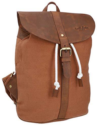 Gusti Paula - Mochila de piel para mujer (11 L), color marrón, marrón (Marrón) - 2M81-20