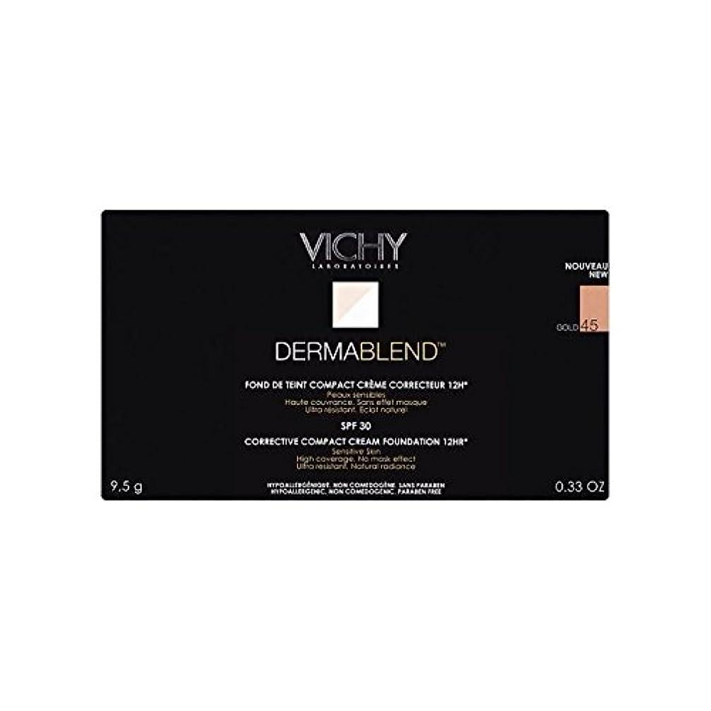 ワーカー吐く静かなVichy Dermablend Corrective Compact Cream Foundation Gold 45 (Pack of 6) - ヴィシー是正コンパクトクリームファンデーション金45 x6 [並行輸入品]