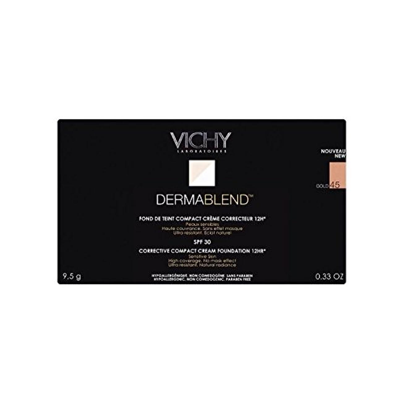 オーガニック虹博物館Vichy Dermablend Corrective Compact Cream Foundation Gold 45 (Pack of 6) - ヴィシー是正コンパクトクリームファンデーション金45 x6 [並行輸入品]