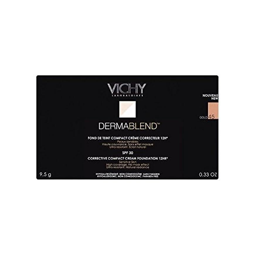 鷲パターンベアリングサークルヴィシー是正コンパクトクリームファンデーション金45 x4 - Vichy Dermablend Corrective Compact Cream Foundation Gold 45 (Pack of 4) [並行輸入品]