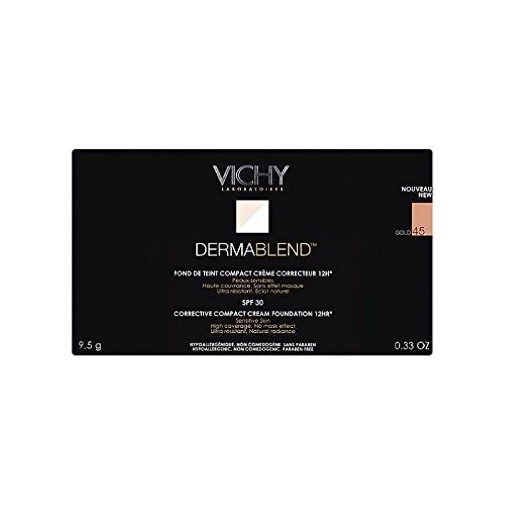 雪だるま例示するまぶしさヴィシー是正コンパクトクリームファンデーション金45 x4 - Vichy Dermablend Corrective Compact Cream Foundation Gold 45 (Pack of 4) [並行輸入品]