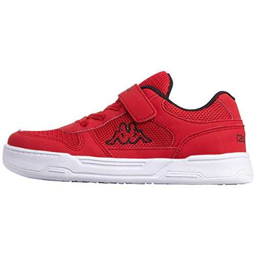 Kappa Dalton Kids, Sneakers Basses Garçon Mixte Enfant, Rouge (Red/Black 2011), 27 EU