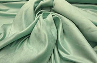 Turquoise Suede Upholstery Drapery Fabric Per Yard