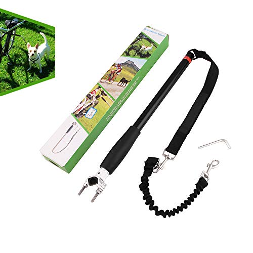 Tylu Hands-Free Dog Bicycle Traction Rope Dog Leash Quick Release Bicycle Dog Exerciser Hold 500-lbs Pull Strength