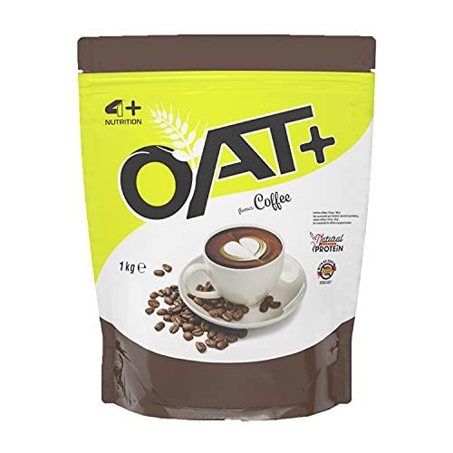 4+ NUTRITION - Oat+, Integratore Sportivo, Farina d'Avena, Fonte di Proteine, Crescita della Massa Muscolare e Riduzione della Stanchezza e Affaticamento, Gusto Caffè, 1 kg