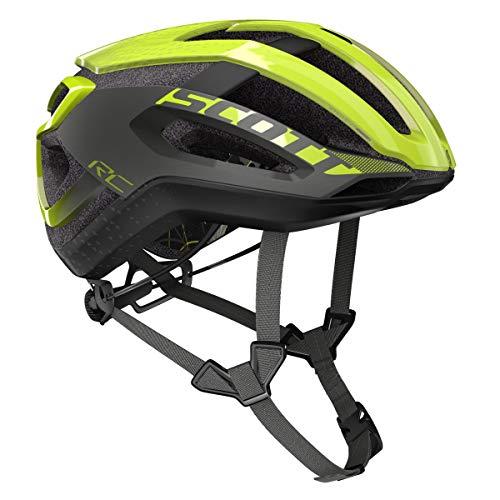 Scott Centric Plus 2019 - Casco de Ciclismo, Color Amarillo y Gris